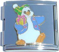 CT5013 Penguin with Green Hat Mega Italian Charm