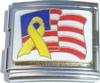 Flag and Yellow Ribbon