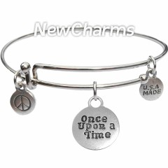 Bangle Bracelet with Once Upon a Time