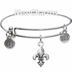 Bangle Bracelet with JT120 Silver Anchor
