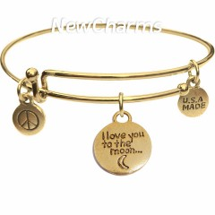 Bangle Bracelet with Love You To The Moon...And Back