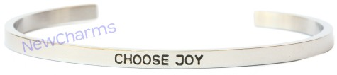 CB103 Choose Joy Cuff Bangle Bracelet