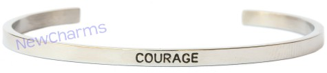 CB104 Courage Cuff Bangle Bracelet
