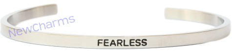 CB106 Fearless Cuff Bangle Bracelet