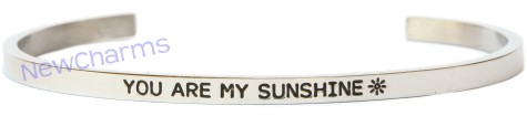 CB113 You Are My Sunshine Cuff Bangle Bracelet