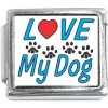CT3139 Love My Dog Italian Charm
