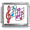 CT4002 Music Notes Italian Charm
