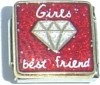 CT4153 Girls Best Friend Diamond Italian Charm