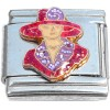 CT9786 Red Hat Lady Italian Charm