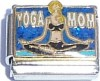 Yoga Mom on Blue