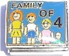 CT9093 Family of 4 on Blue Italian Charm