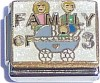 CT9094 Family of 3 on White Italian Charm