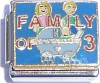 CT9095 Family of 3 on Blue Italian Charm