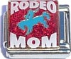 Rodeo Mom on Red Charm Bracelet
