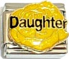 CT9190 Daughter on Yellow Flower Italian Charm