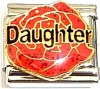 CT9191 Daughter Red Rose Italian Charm