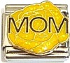 Mom Yellow Flower Italian Charm
