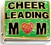 Cheerleading Mom on Green Italian Charm