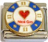Nice Girl on Casino Chip Italian Charm