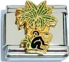 Monkey and Palm Tree Italian Charm