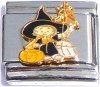 Witch Trick or Treat Kid Italian Charm