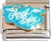 Angel Baby on Teal Glitter Italian Charm