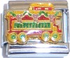 Christmas Caboose / Trolley Car Italian Charm