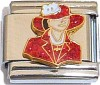 CT6201 Red Hat Lady Italian Charm