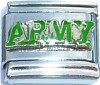 ARMY in Camo Green Italian Charm