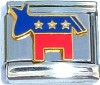 USA Democratic Donkey Italian Charm