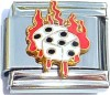 Dice on Fire Italian Charm