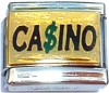 CASINO on Gold Italian Charm