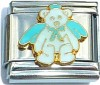 Bear in Blue Italian Charm