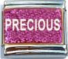 Precious on Pink with Glitter Italian Charm