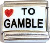 Love To Gamble Italian Charm