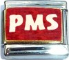 PMS on Red with Glitter Italian Charm