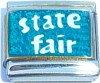 State Fair on Blue with Glitter Italian Charm