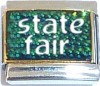 State Fair on Green with Glitter Italian Charm