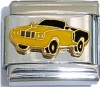 CT6493 Yellow and Black Car Italian Charm
