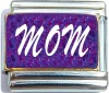 Mom on Purple Italian Charm