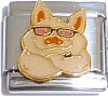 Pig with Glasses Italian Charm