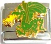 Green Dragon Italian Charm