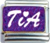 Tia on Purple Italian Charm