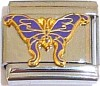 Purple Butterfly Italian Charm