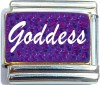 Goddess on Purple Italian Charm