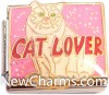 CT9457 Cat Lover Italian Charm