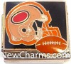 CT9481 Football Helmet On Black Italian Charm