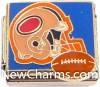 CT9482 Football Helmet On Blue Italian Charm