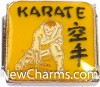 CT9485 Karate On Yellow Italian Charm