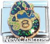 CT9744 Animal on Eight Ball Italian Charm